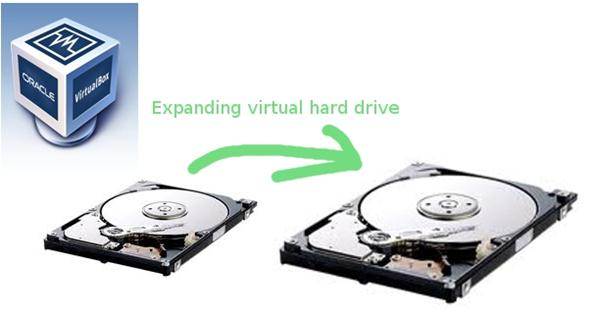 Enlarging a Virtualbox virtual drive