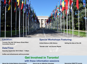 Event Promotion Poster for United Nations and International Relations Learning Event