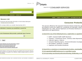 Web Database Protecting Consumers with Open OnlineInformation