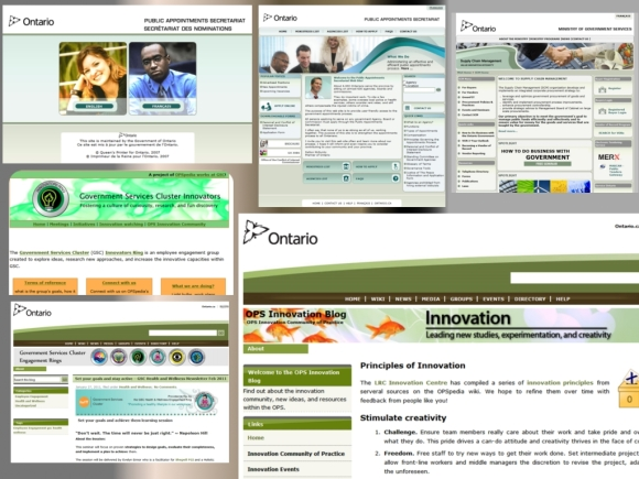 Various Government of Ontario websites