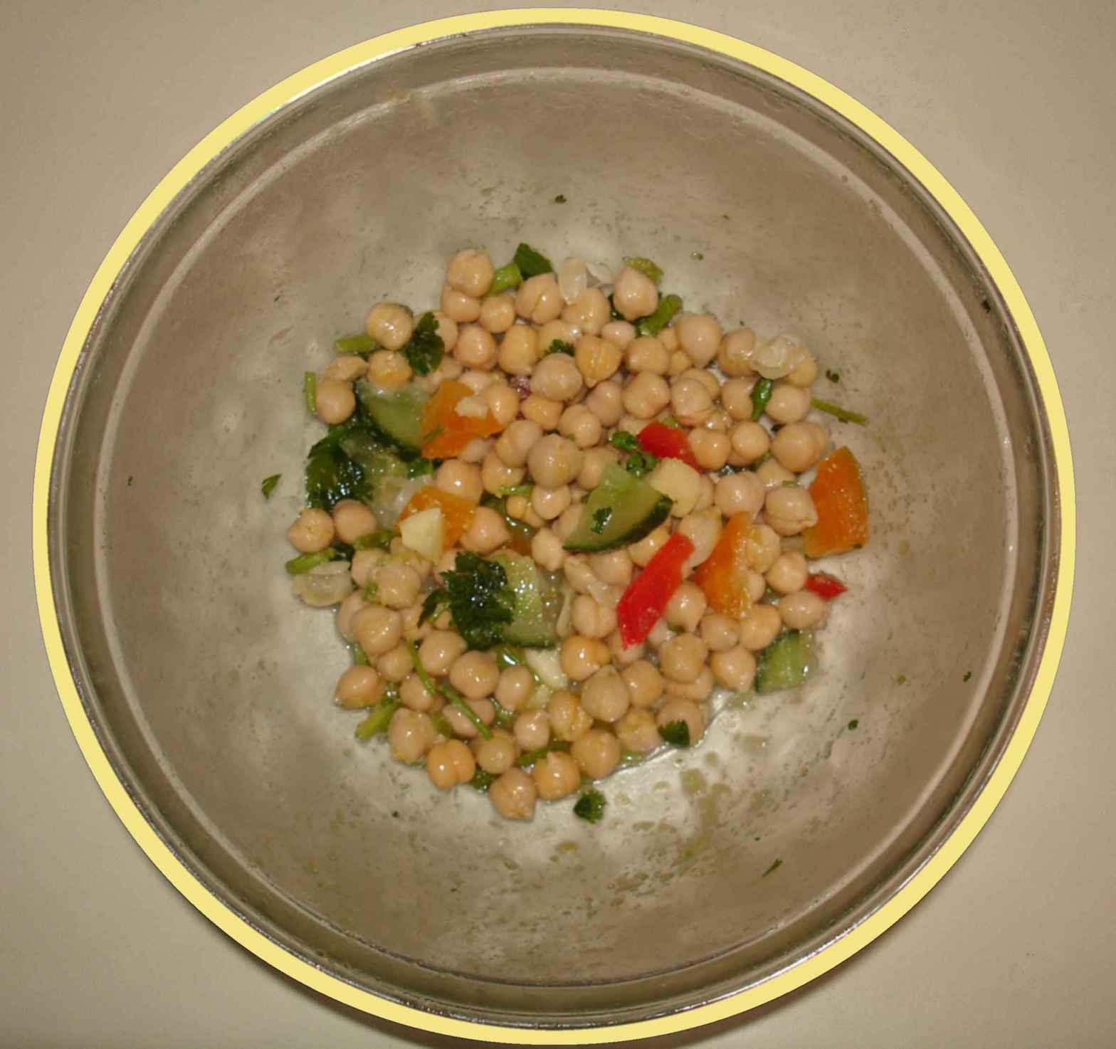 Chick pea salad called Chick Pea Delight