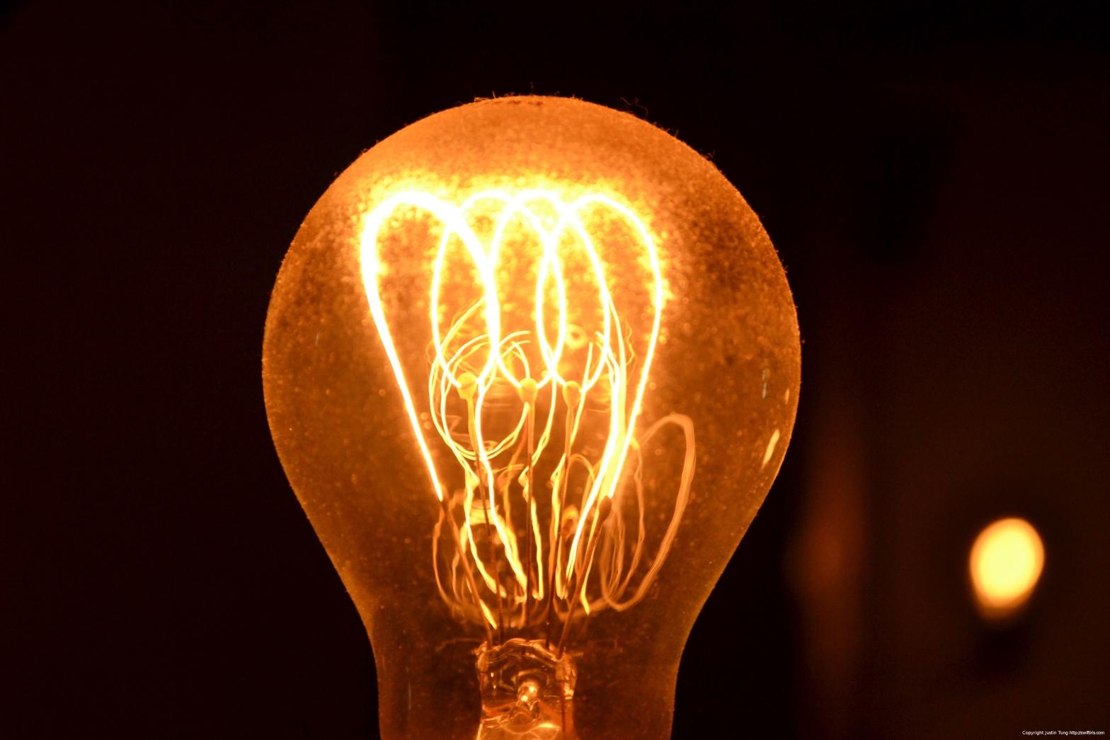Light bulb copyright Justin Tung