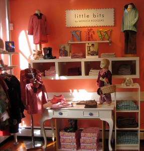 Children's clothing on display in store