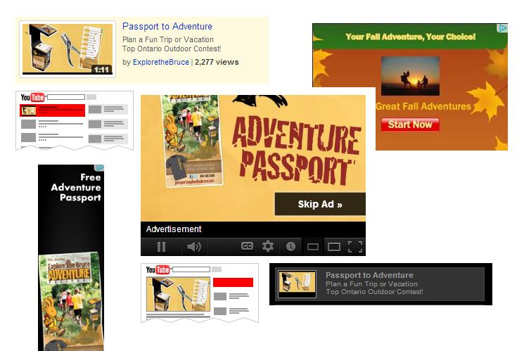 Bruce County Adventure Passport Ad Collage