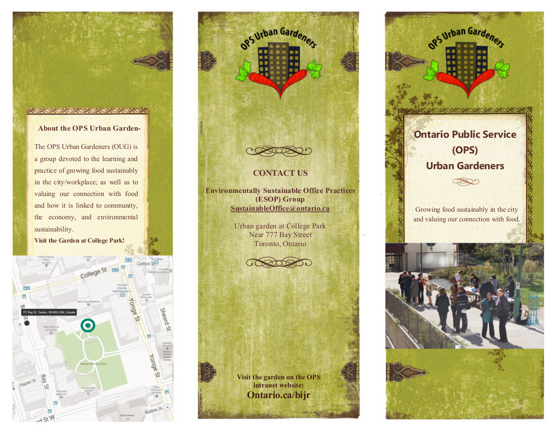 Graphic Design Of Brochure For Community Gardening Group Justin Tung