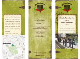 Graphic Design of Brochure for Community Gardening Group