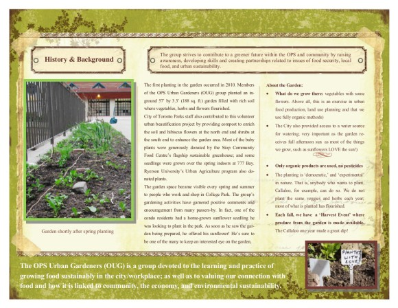 History and overview of OPS urban gardeners