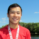 Justin Tung with Medal at Canada Day Regatta