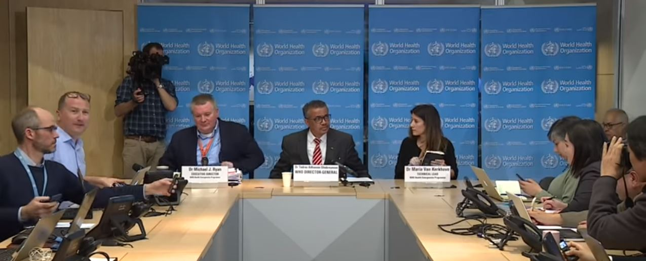 WHO COVID-19 briefing 11 March 2020
